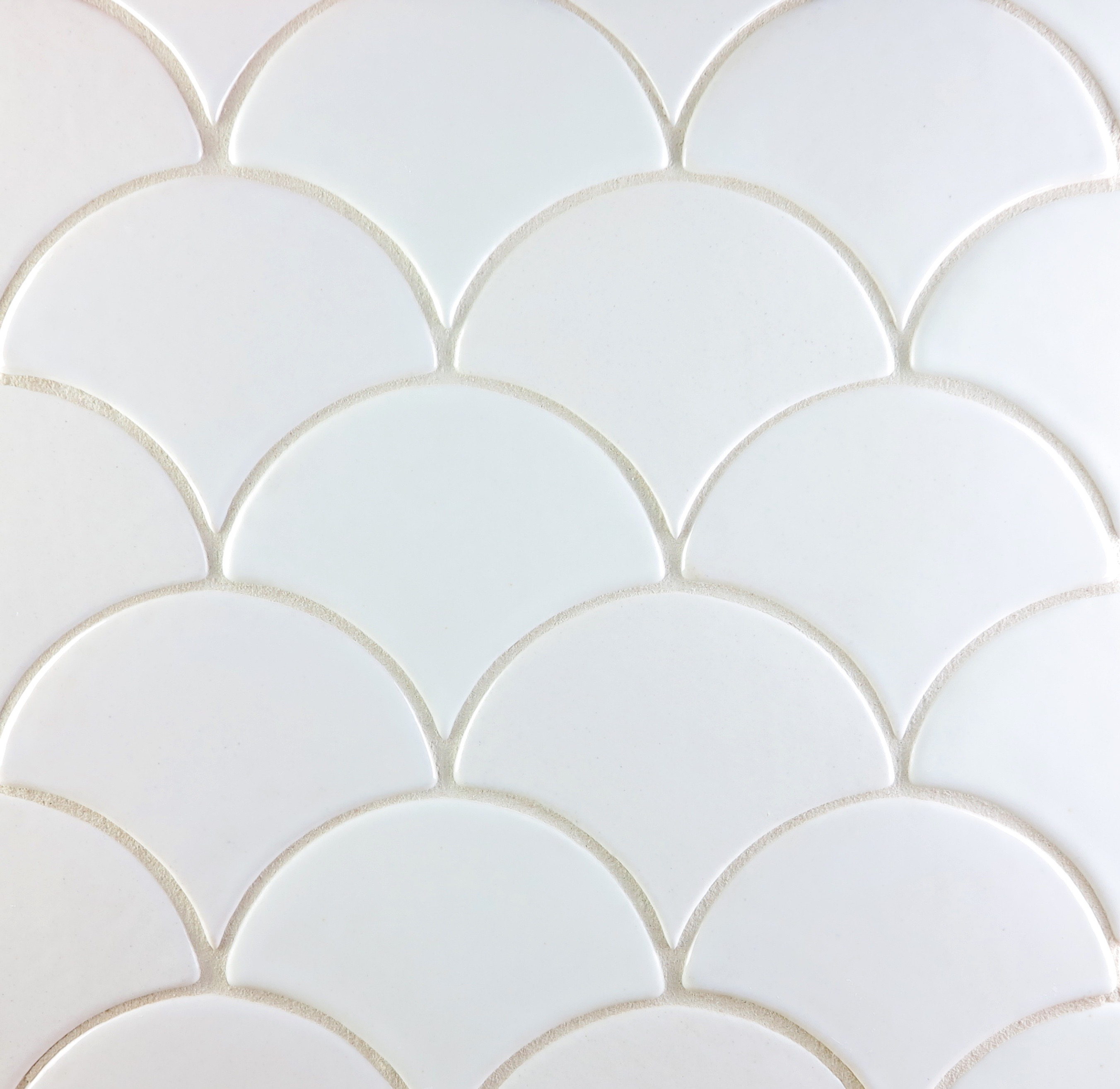 Design crush black white handmade tile julep tile company this scallop pattern below also known as fish scale tile is a nice alternative to the traditional white subway tile its shown in three shades of white dailygadgetfo Choice Image