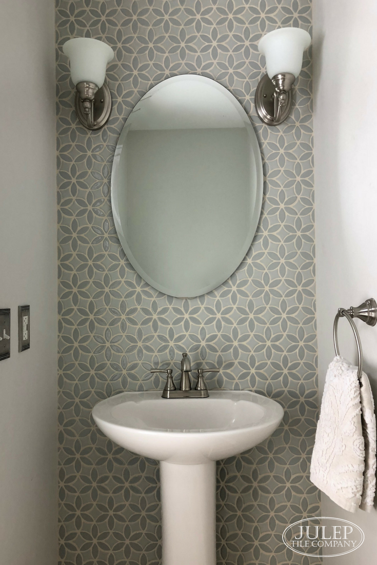 Elegant Powder Room Makeover Julep Tile Company
